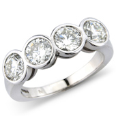 Brilliant Cut Cups Set 4-stone Ring