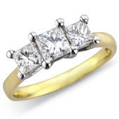 Princess Cut Claw Set Ring