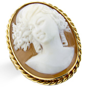 Large Shell Cameo Ring