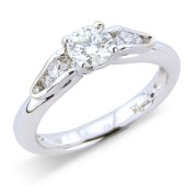 Antique Style Diamond Solitaire ring