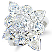 'The North Star' - Oval, Pear and Brilliant Cut Diamonds (4.10cts)