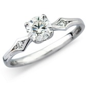 Diamond Solitaire with Stone Set Shoulders