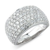 Brilliant Cut Micro-Pave Set Band (Available in .50/.75/1ct/1.5ct and 2ct weights)