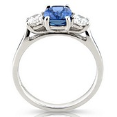 3-stone Claw Set Sapphire and Diamond Ring