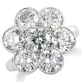 Pave 7-stone Daisy Cluster Ring